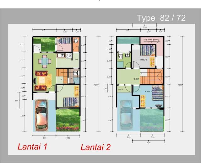 harus mempunyai sketsa yang terang dan disesuai Kumpulan Gambar Denah Rumah Minimalis 2 Lantai Modern