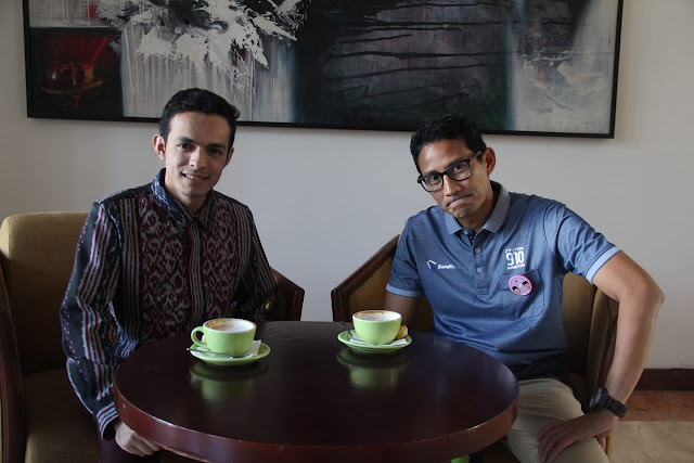 Gamal Albinsaid dan Sandiaga Uno