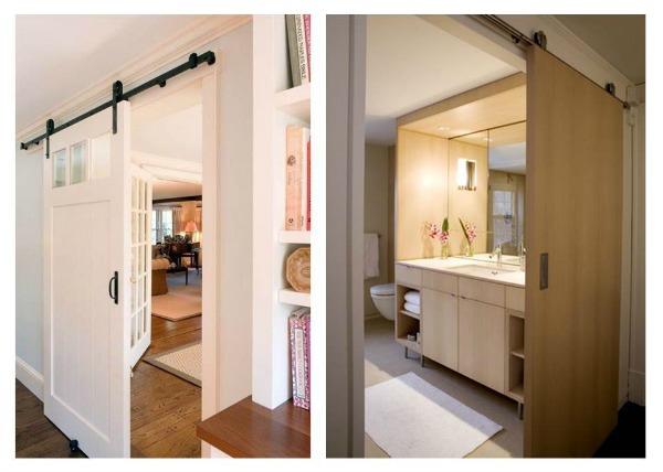 Innhogar puertas correderas tipo granero para interiores for Puertas de madera interiores rusticas