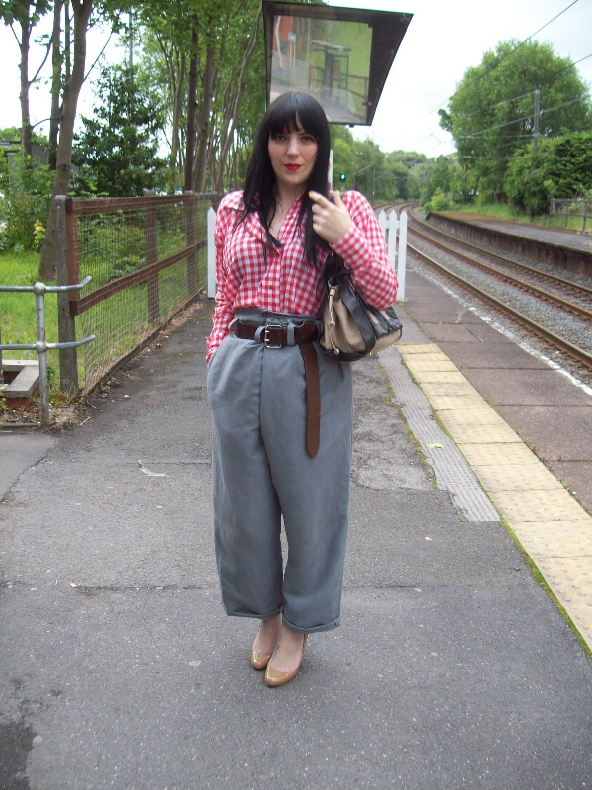 69c8fa335d (Wearing: Vivienne Westwood belt, Red label shirt and Man Label trousers,  Christian Louboutin shoes and Pierre Hardy bag – on loan, thanks mum)