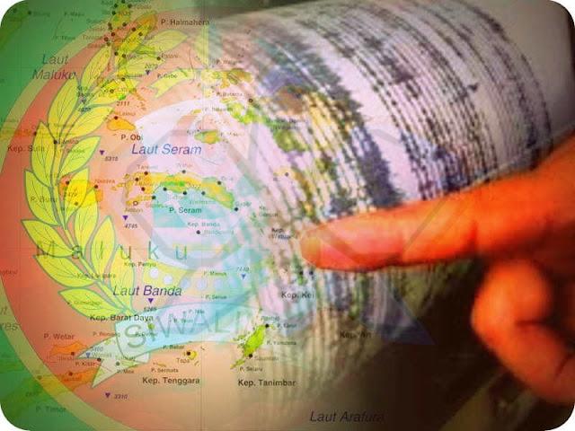 13 Gempa Beruntun Guncang Pulau Seram