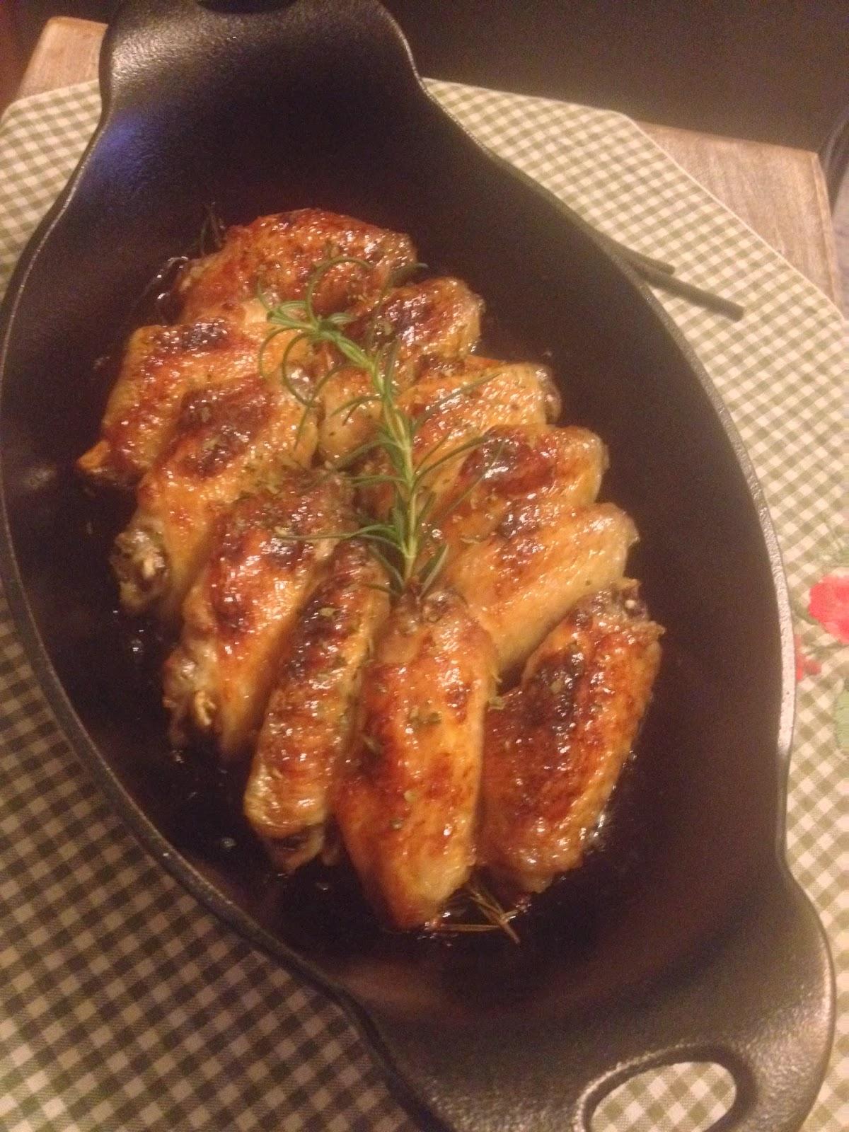 雪兒 ♥ Cook Before Sunset: 香草蜜糖烤雞翅 (附食譜)