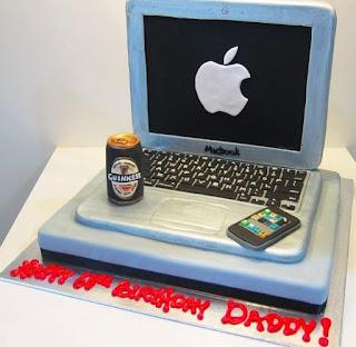 kue ulang tahun laptop macbook