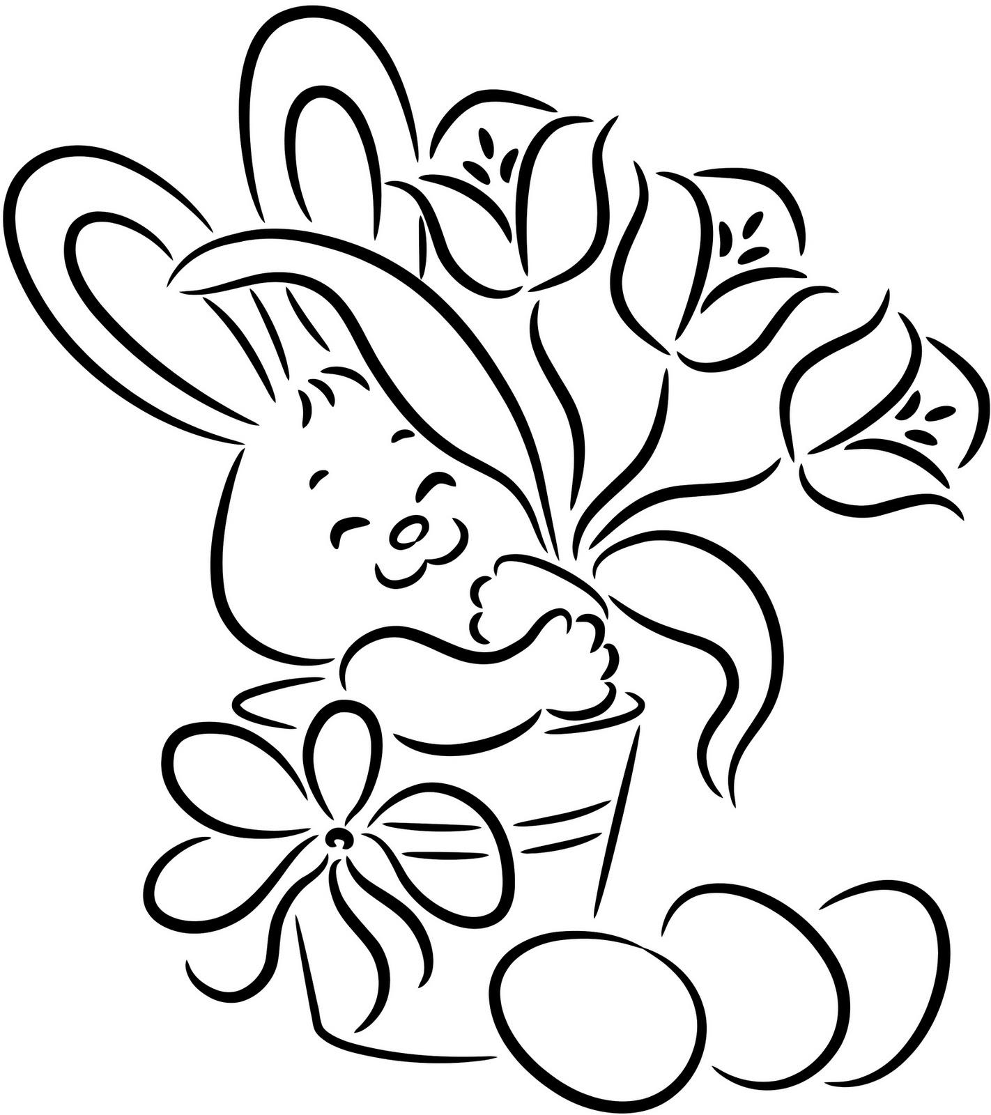 fichas de inglés para niños easter bunny coloring pages