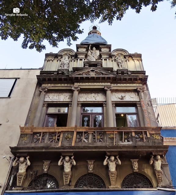 Vista da fachada do Círculo Esotérico da Comunhão do Pensamento - Liberdade - São Paulo