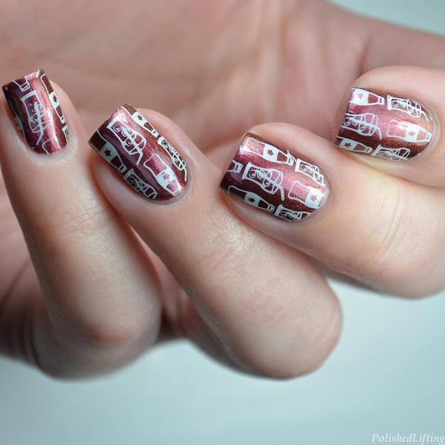 coca cola nail art