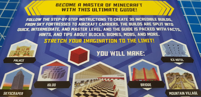 Ultimate Minecraft Master Builder Book Review back page build examples
