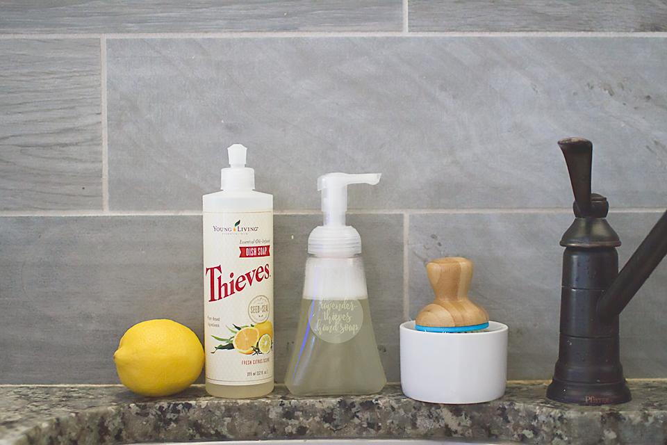 DIY Essential Oil Hand Soap | Thieves + Lavender