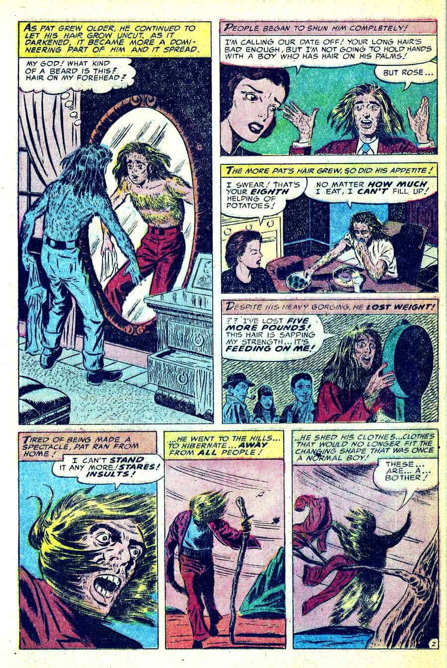 Strange Fantasy v1 #9 golden age horror comic book page art by Steve Ditko