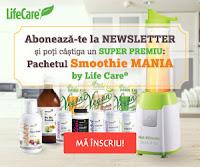 Castiga un pachet Smoothie MANIA by Life Care®