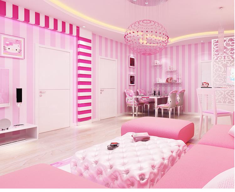 Gambar Kamar Polkadot desain interior kamar tidur
