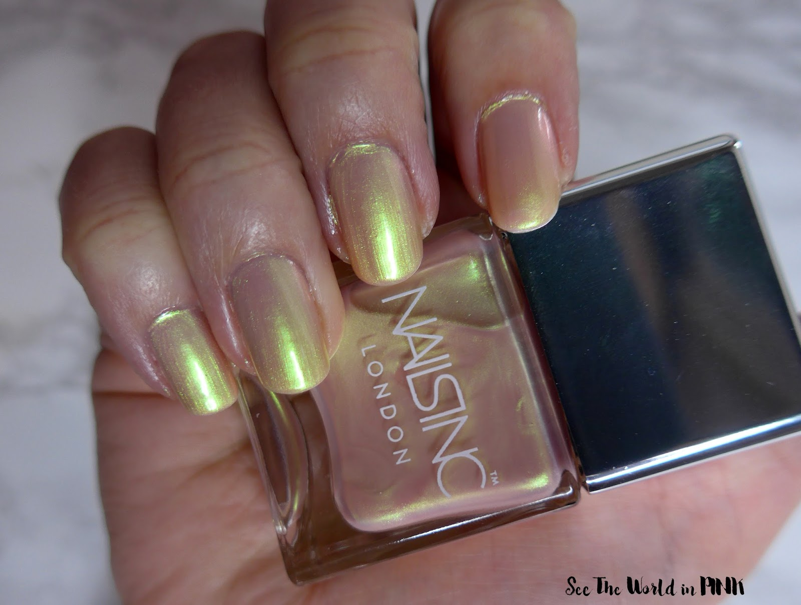 "Manicure Tuesday - Nails Inc. Champagne Shine Nail Polish Duo ""Fizz-ical"" and ""Straight To My Head"" Swatches"
