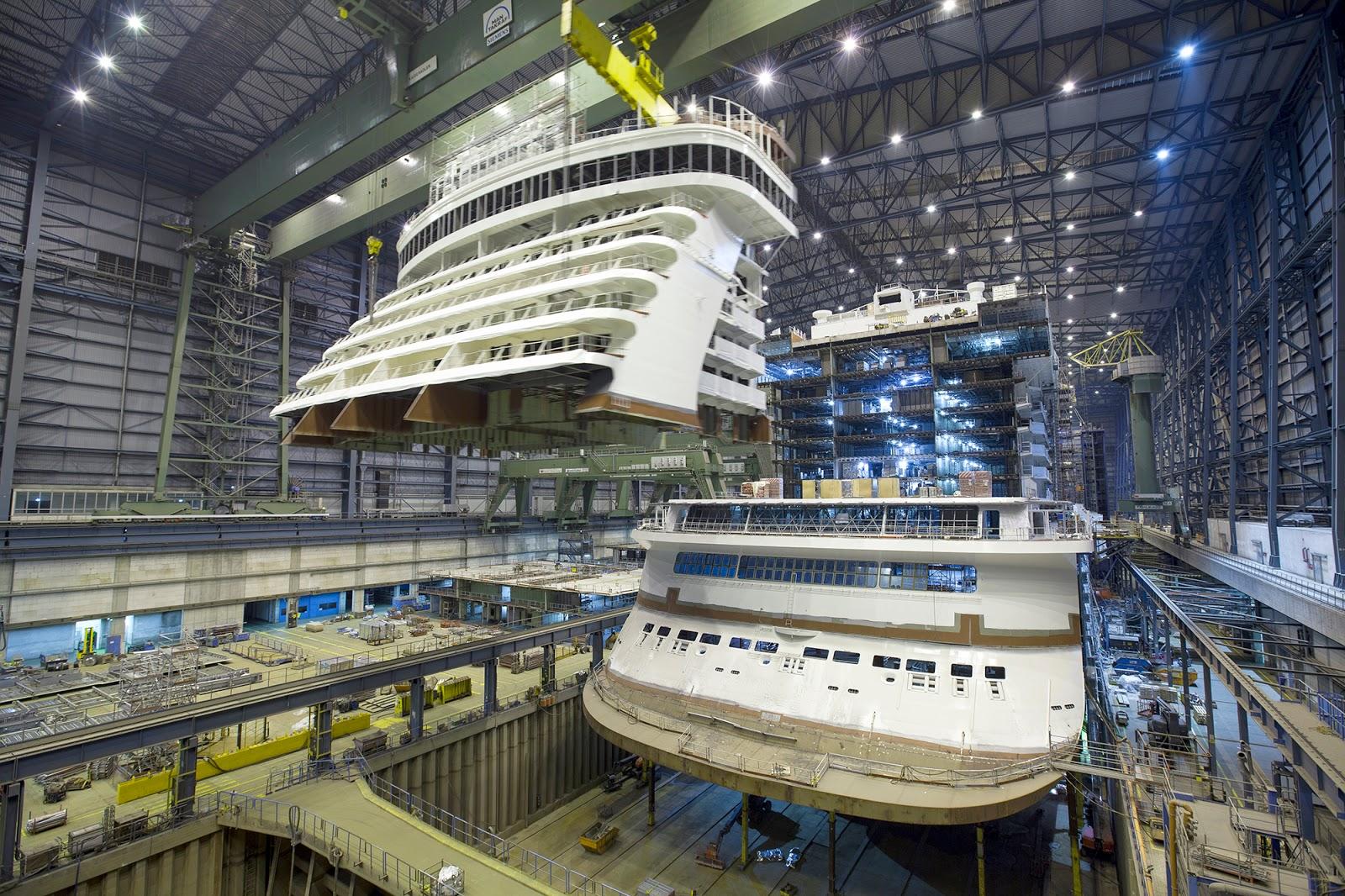 Meyer Werft Blog Genting Dream Schiffsk 246 Rpermontage