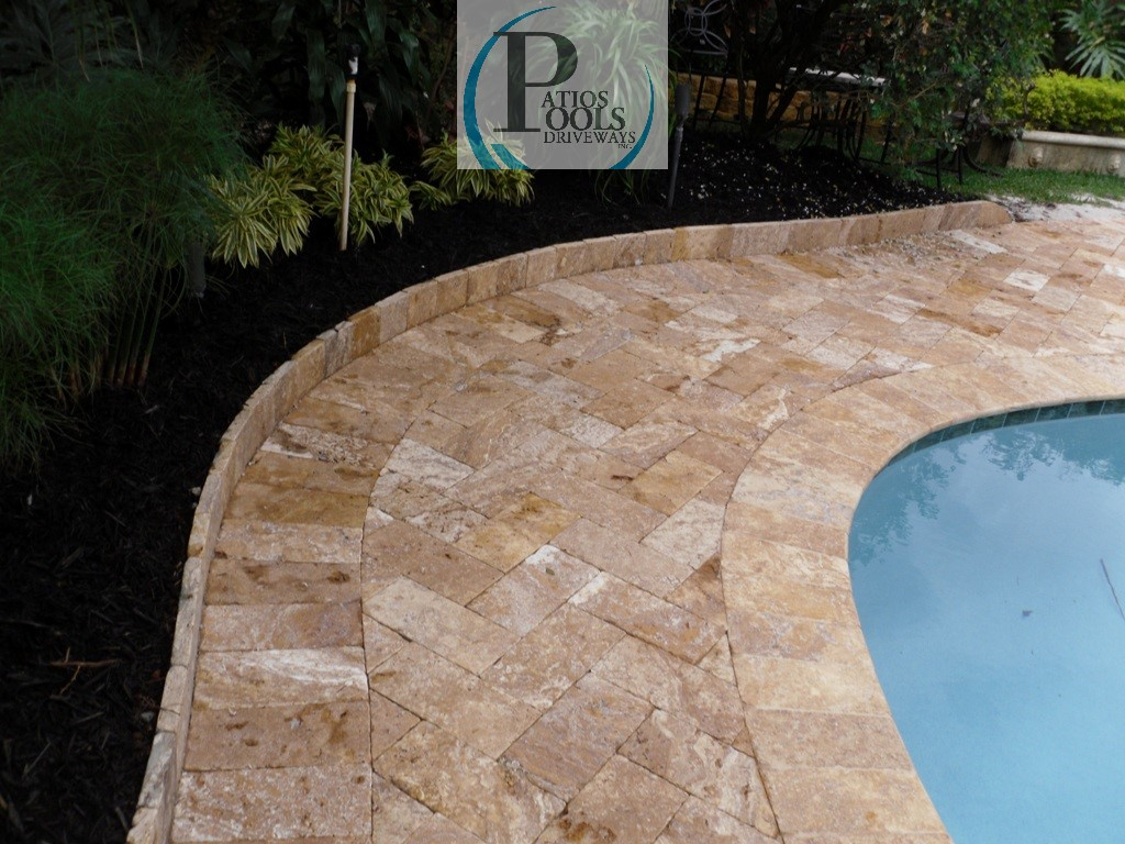 elegant travertine pavers: west palm beach to fort lauderdale to miami