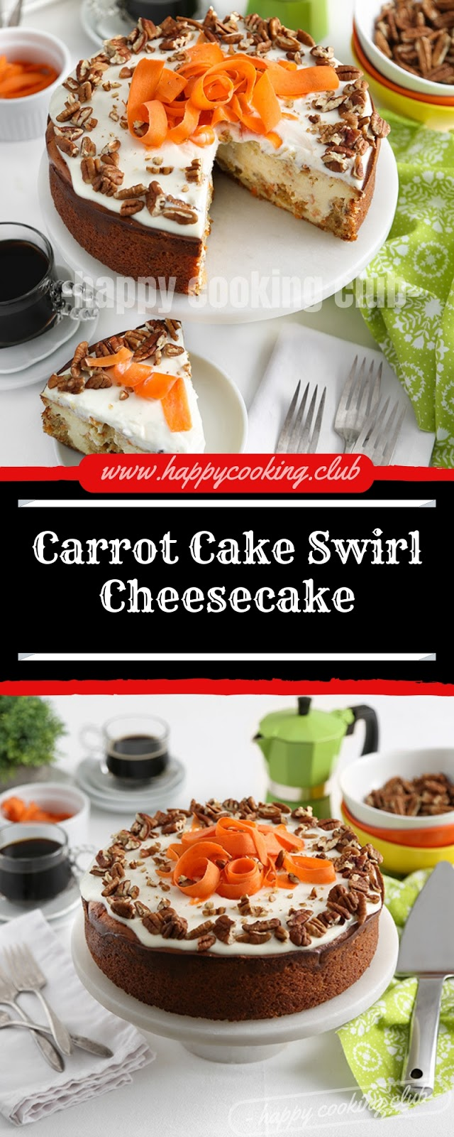 Carrot Cake Swirl Cheesecake