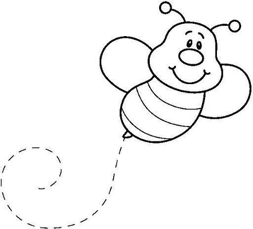 actividades escolares  abejas en blanco y negro para