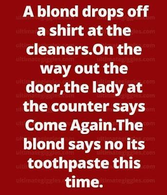 MUST READ, Please Share, Funny And Hilarious Blond Joke #Blondjoke