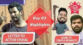 Ketter to Actor Vishal | Day 2 Settai Night Show | Smile Settai