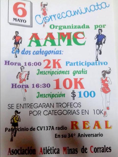 10k y 2k en Minas de Corrales (Rivera, 06/may/2017)