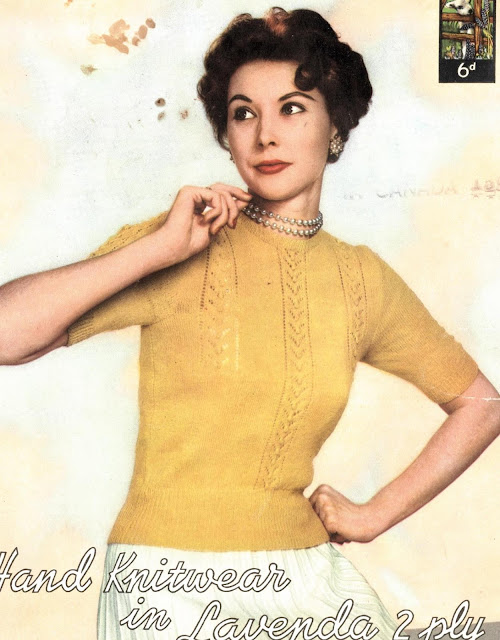 The Vintage Pattern Files: Free 1950's Knitting Pattern - A Fine Knit Jumper