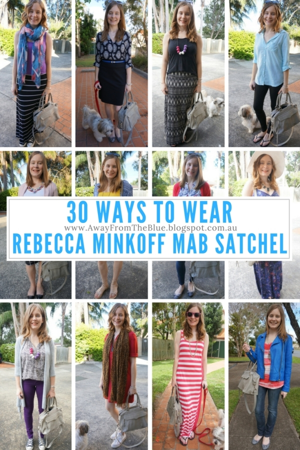 30 Ways to Wear Rebecca Minkoff MAB Satchel Bag | Away From Blue Blog