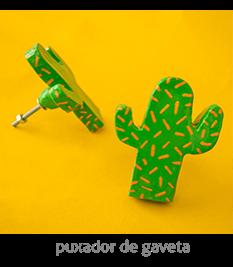 puxador de gaveta de cacto | espanta-papão