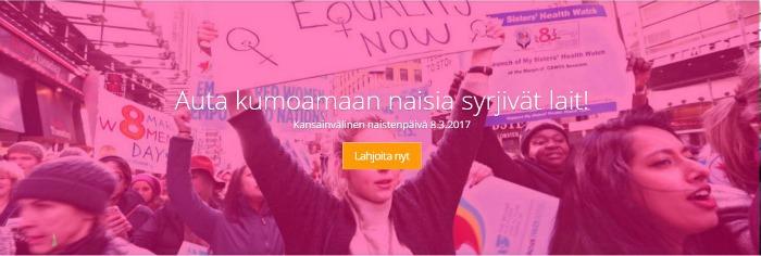 YNWomen - auta kumoamaan naisia syrjivät lait