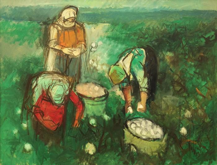 Нечёткие формы и неяркие цвета в картинах турецкого художника Fahri Sumer