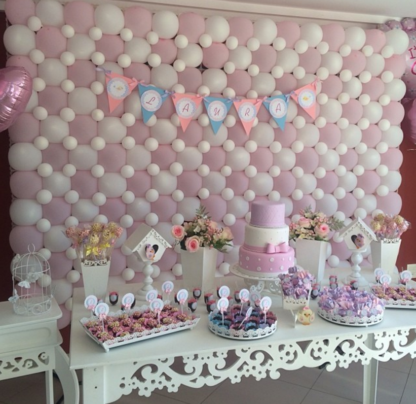 101 fiestas c mo planear un baby shower econ mico for Decoracion para pared de baby shower