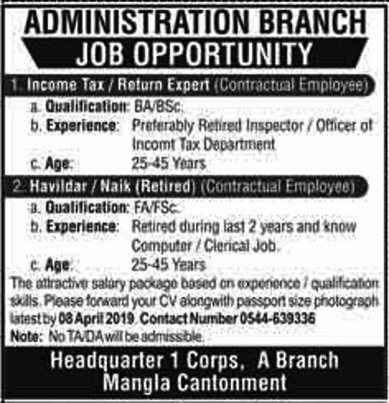 Income Tax Officer Jobs 2019