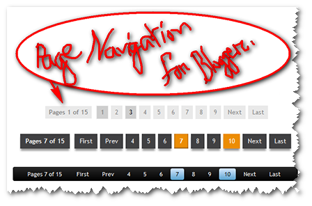 How to Add Page Number Navigation Widget for Blogger1