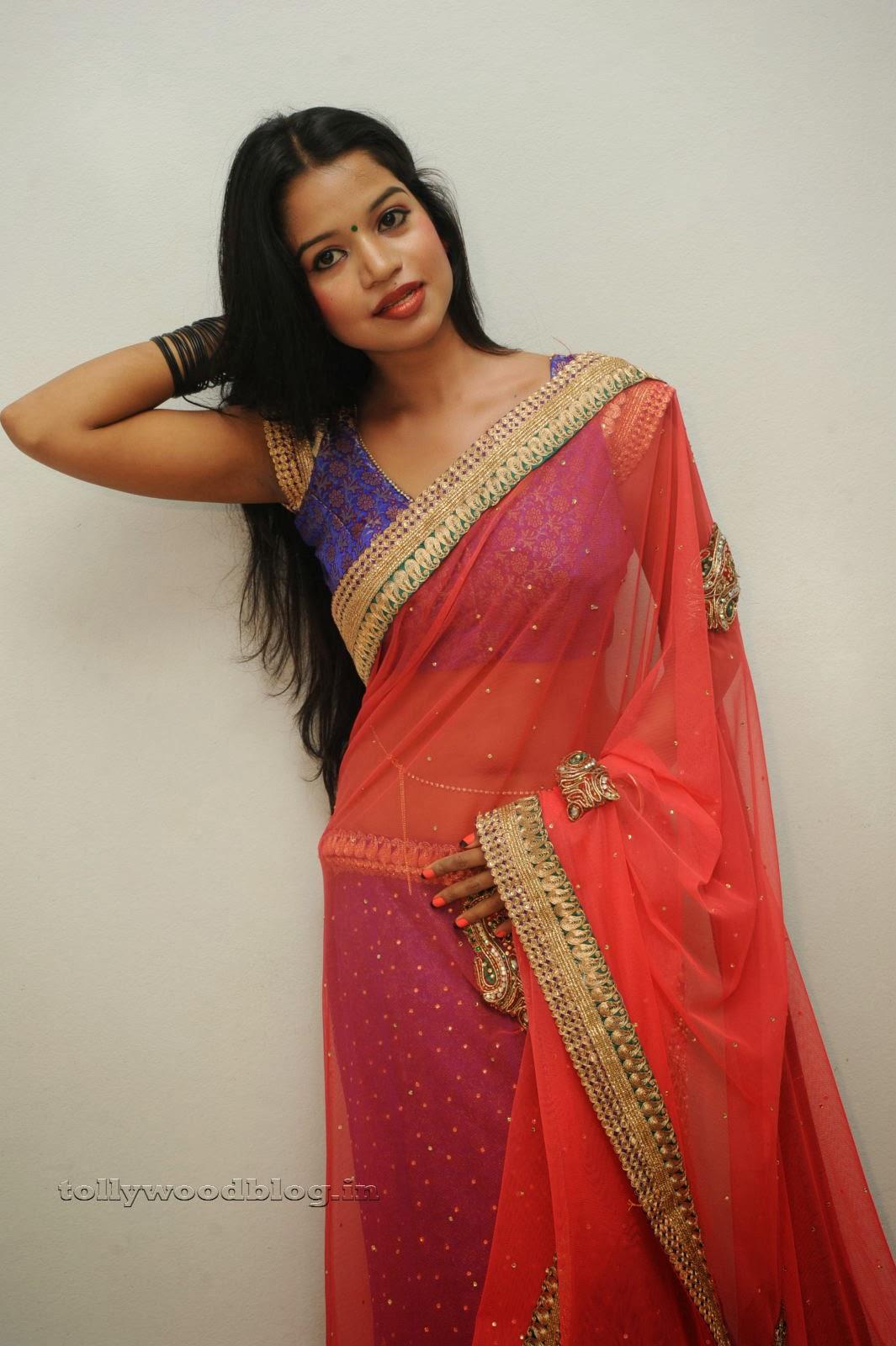 In Saree Tamanna In Himmatwala: Dressing Below Navel Saree: Bhavya Sri Stunning Beauty In