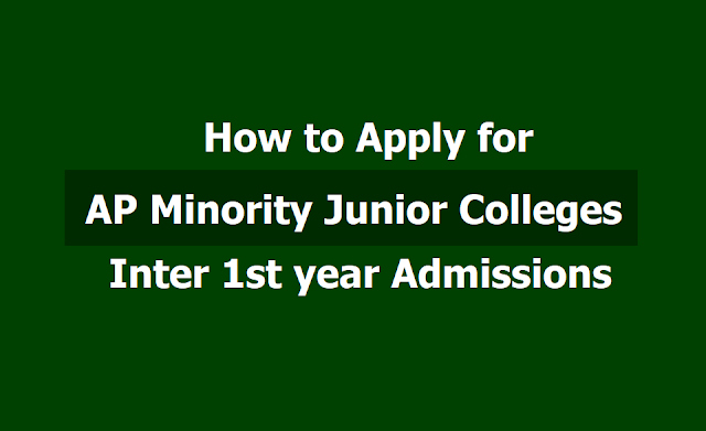How to apply for AP Minority Junior Colleges Inter 1st year admissions 2019