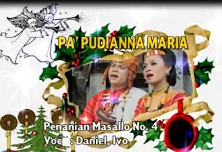 Lirik Lagu Toraja Pa'pudianna Maria (Daniel, Ivo)
