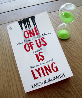 book cover of One of Us is Lying by Karen M. McManus