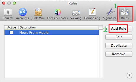 Add Rules In Mac Mail