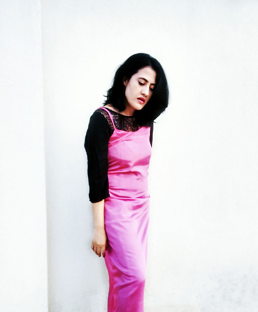 pinklongslipdress ,diysilkslipdress, the style panorama