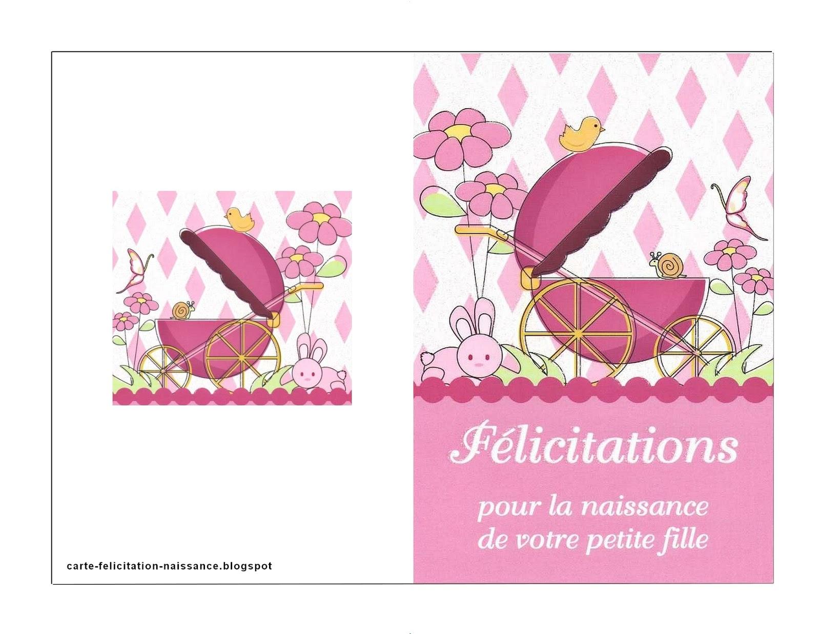 Carte Gratuite à Imprimer Carte De Félicitation Pour Naissance à