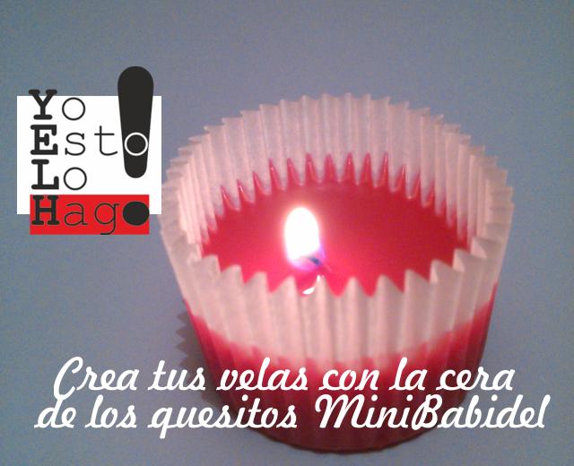 Diy - Crea tus velas reciclando cera de quesitos Mini Babydel