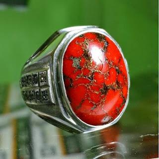 Batu akik pirus merah