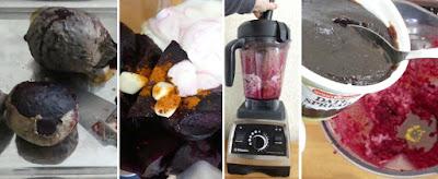 Zubereitung Rote-Bete-Dip mit Joghurt und Za'atar nach Ottolenghi