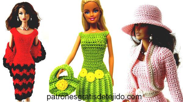 ropa para Barbie tejida a crochet