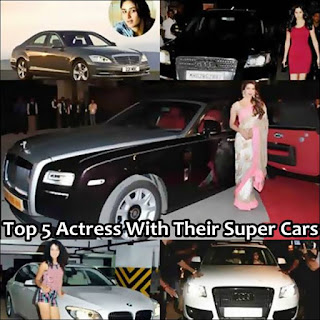 indian actress with their luxury cars