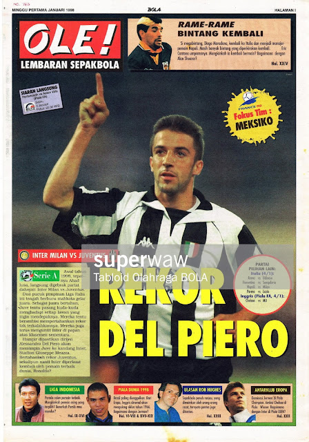 ALESSANDRO DEL PIERO JUVENTUS NEWS 1997