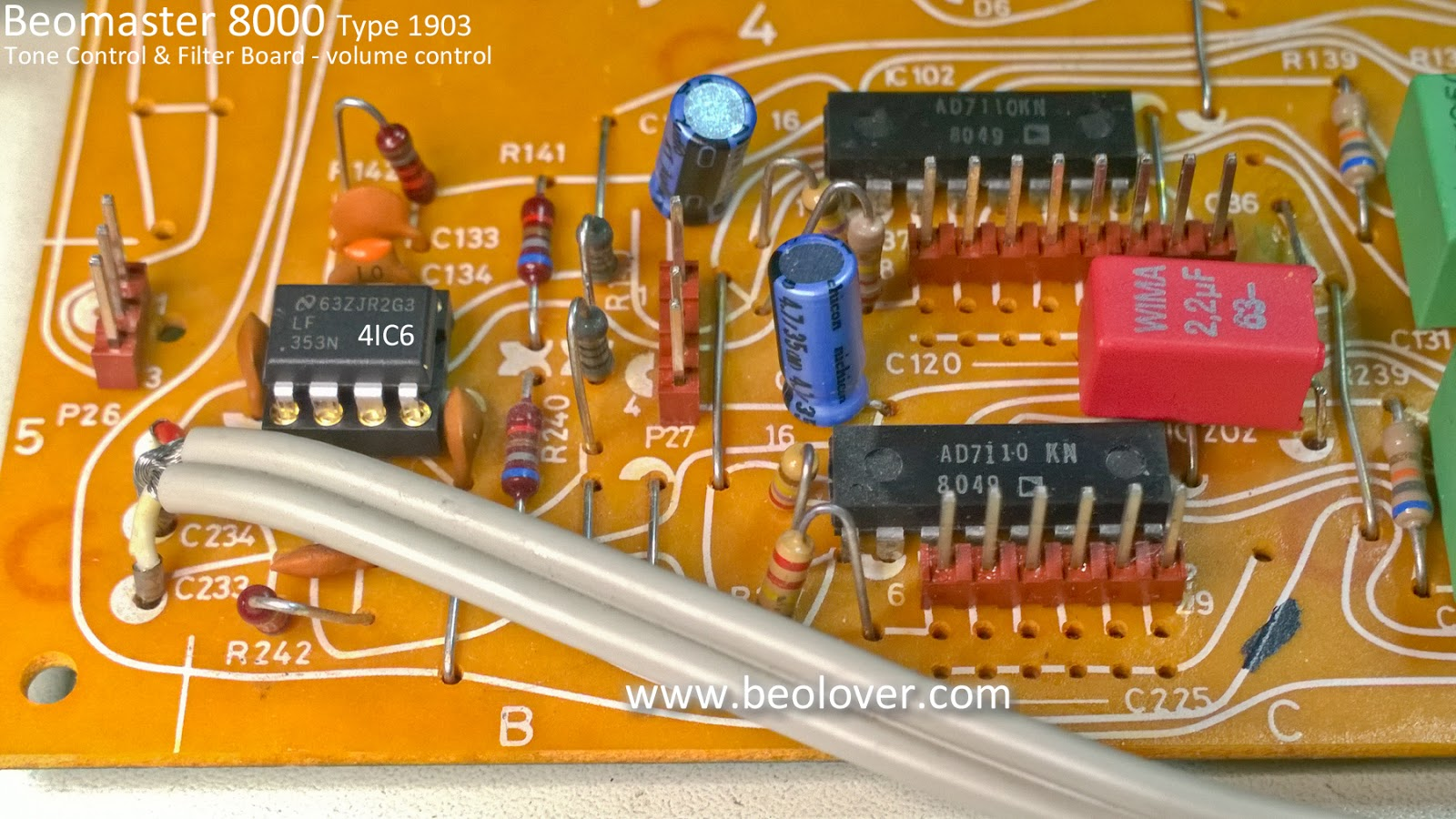 Beolover Beomaster 8000 Evaluating The Audio Performance Volume Control Circuit Opamp Identified As 4ic6 Is For Whenever That Changed It Very Likely