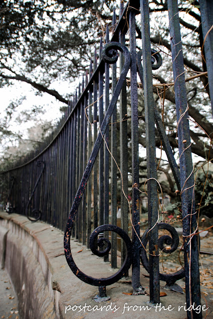 Ornamental Ironwork in Charleston. Postcards from the Ridge