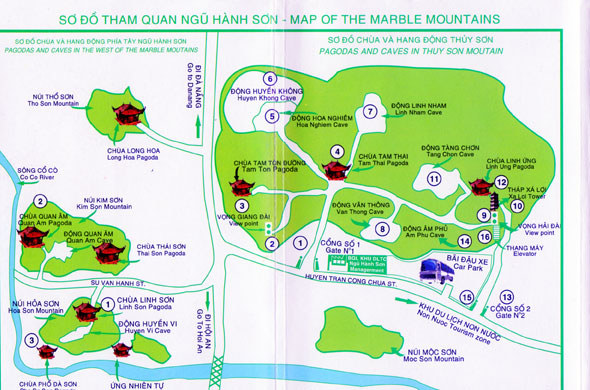 Mountains In Vietnam Map.The Marble Mountains Thuy Son Mountain Danang Vietnam Jeanny