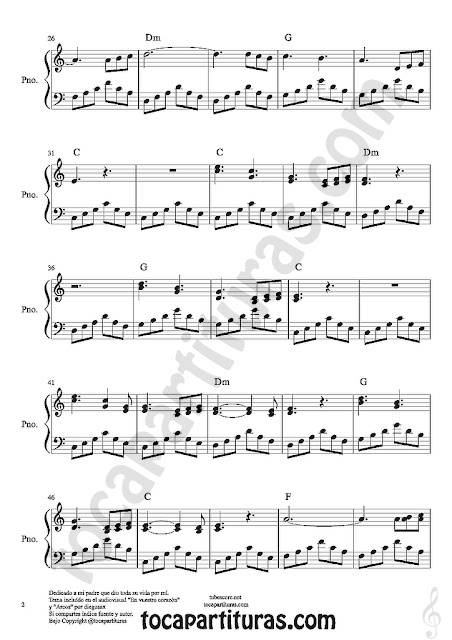 "2  Partituras de Piano ""En Tu Corazón"" partitura con sentimiento para pianistas. In your heart pianists easy sheet music for beginners piano"