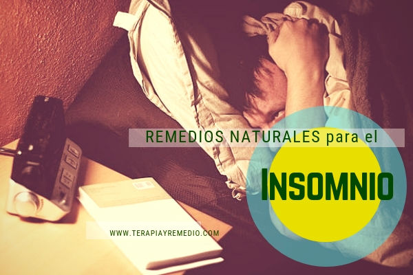 Remedios naturales para el insomnio o trastorno de sueño.