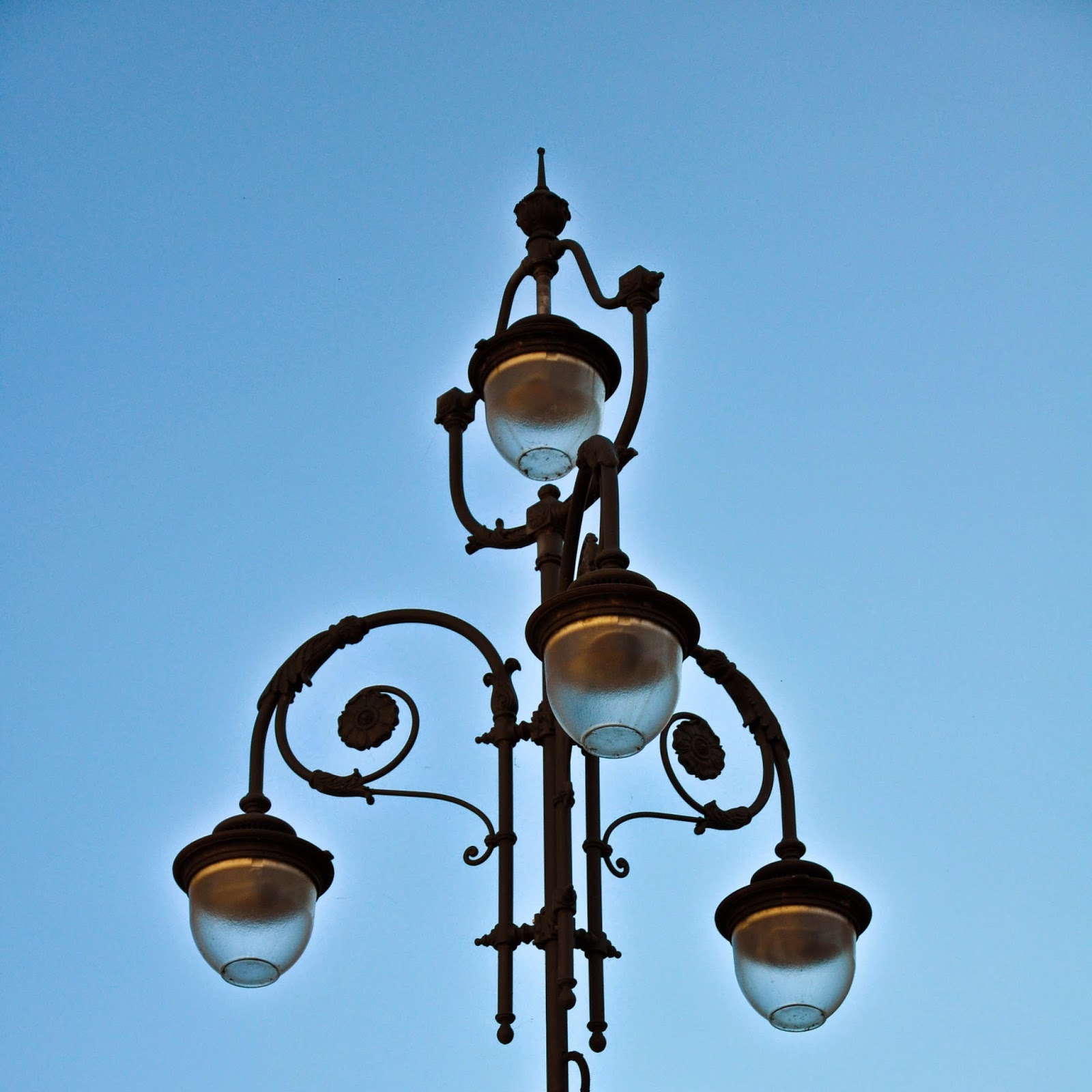 A fabulously whimsical street light in Treviso